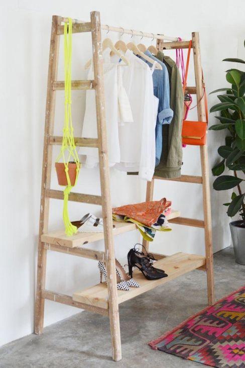diy-ladder-wardrobe